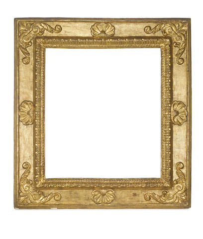 An Italian 16th Century carved and gilded frame