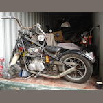 1975 Yamaha 653cc XS650 Chopper Frame no. 502503 Engine no. 3U6-001391