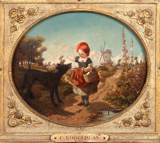 Camille Joseph Etienne Roqueplan (French, 1803-1855) Little Red Riding Hood