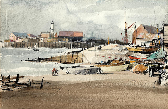 Rowland Hilder (British, 1905-1993) 'Whitstable Beach'
