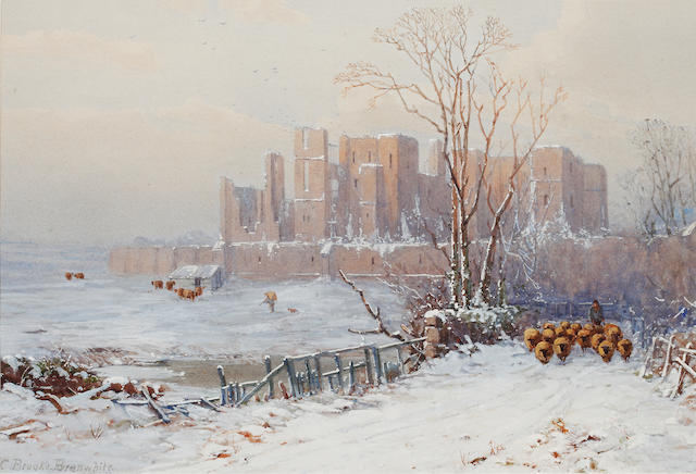 Charles Brooke Branwhite (British, 1851-1929) 'Kenilworth in winter'