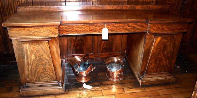 A Victorian pedestal sideboard