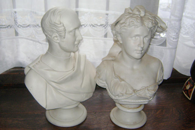 Two Parianware busts
