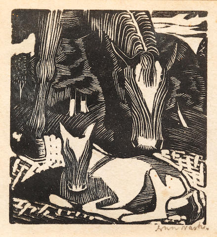 John Nash R.A. (British, 1893-1977) Horse and foal