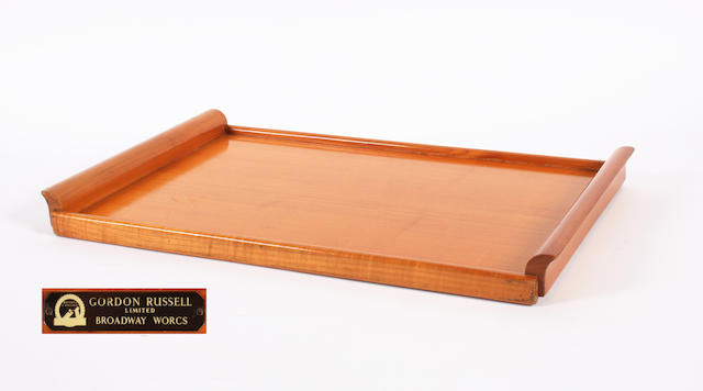 A Gordon Russell cherry rectangular tray