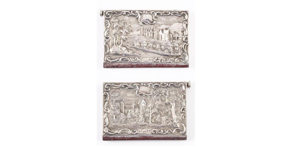 A George IV silver 'castle top' type aide memoire, Birmingham 1834