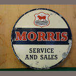 A Morris sales and service sign,