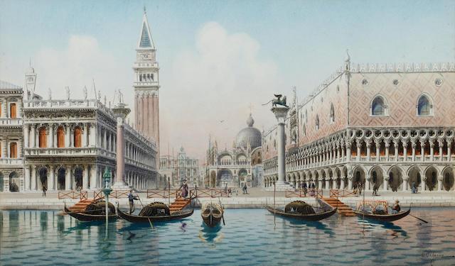 Umberto Ongania (Italian) Before the Piazzetta, San Marco, Venice