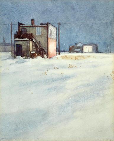 (n/a) Walter Joseph Phillips, RCA, ASA, CSPWC (Canadian, 1884-1963) The Corner Store