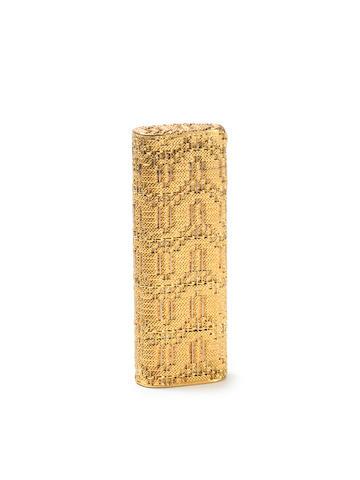 """CAARTIER: An  18 carat gold mounted lighter, incuse stamped """"Cartier Paris"""", """"750"""","""