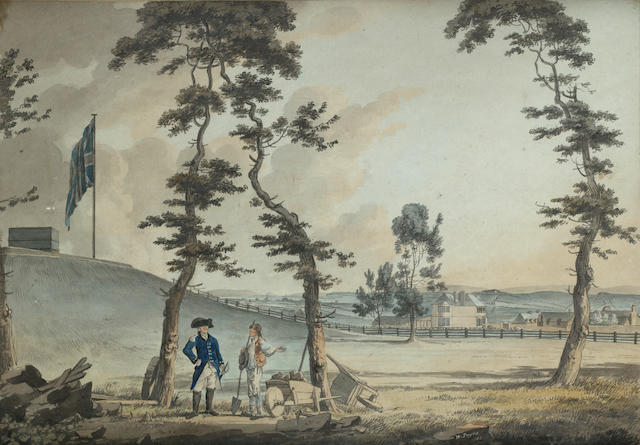 William Payne (British, 1760-1830) View of Colonel Dixon's house near Mount Pleasant, Plymouth