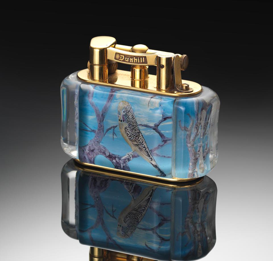 DUNHILL: A 'Budgerigar' lighter,