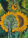 John Bratby R.A. (British, 1928-1992) Sunflowers 122 x 91.5 cm. (48 x 36 in.)