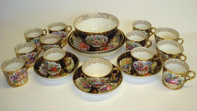 An early Minton part tea service Circa 1810