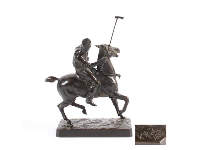 Walter Roche (British, late 19th century) A polo player