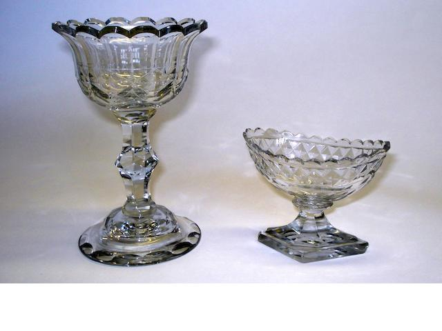 A Georgian glass sweetmeat dish Circa 1740-50