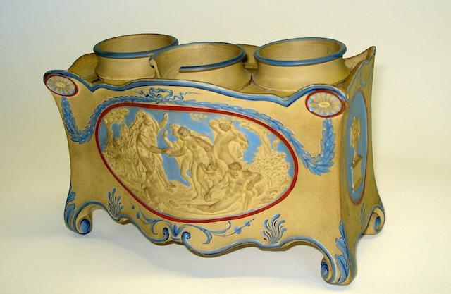 A Wedgwood stoneware jasperware style inkwell Circa 1790