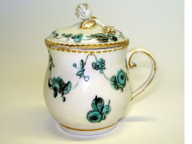 A Chelsea Derby porcelain ice cup and cover Late 18th Century