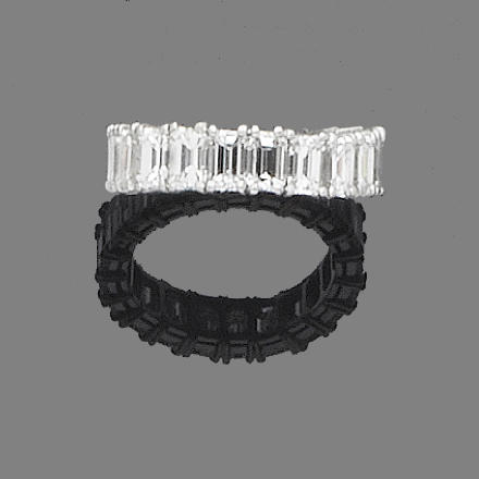 A diamond full-hoop eternity ring