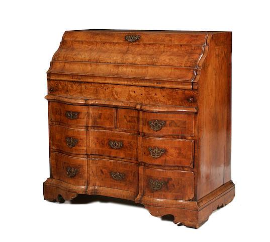 A mid-18th century South German walnut bureau