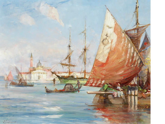Charles James Lauder, RSW (British, 1840-1920) Venetian lagoon