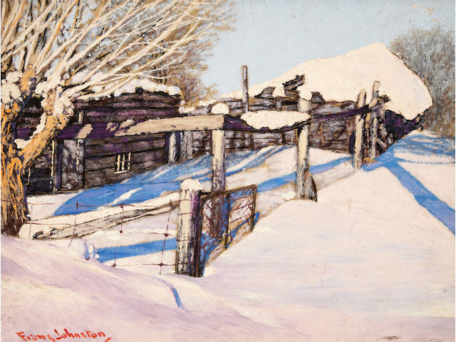 Francis Hans Johnston, ARCA, OSA, CSPWC (Canadian, 1888-1949) Deep in Winter