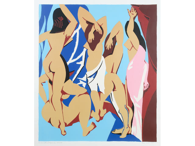 Patrick Caulfield (British, 1936-2005) Les Demoiselles d'Avignon vues de derrière Screenprint, 1999, printed in colours, on wove, signed, titled and numbered 8/65 in pencil, printed by Advanced Graphics, published by Alan Cristea Gallery, London, 1060 x 920mm (41 2/3 x 26 1/3in)(I)