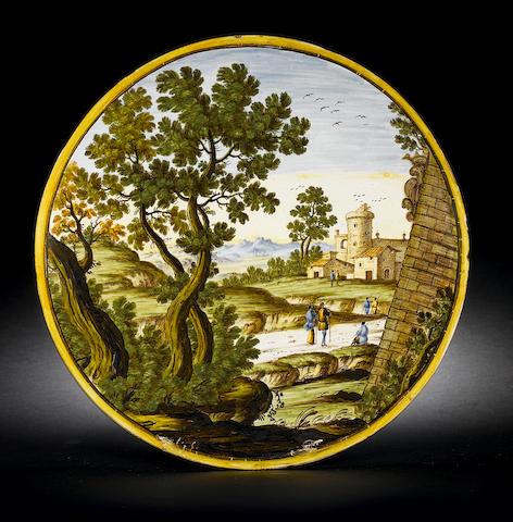 Circular Castelli plaque
