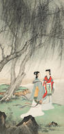 Huang Junbi (1898-1991) Two Beauties under Willow