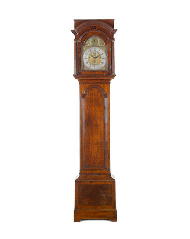 An 18th Century walnut veneered longcase clock