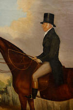 19th Century English school A gentleman on a hunter