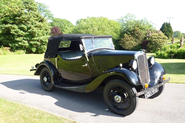 1935 Morris 8hp Two-seat Tourer  Chassis no. 35E 34150 Engine no. 31230