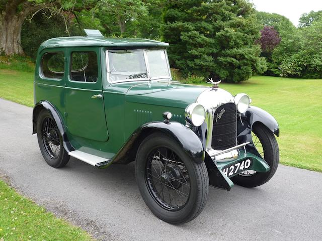 1930 Austin 7hp Swallow Mark I Saloon  Chassis no. B1-2378 Engine no. M109573