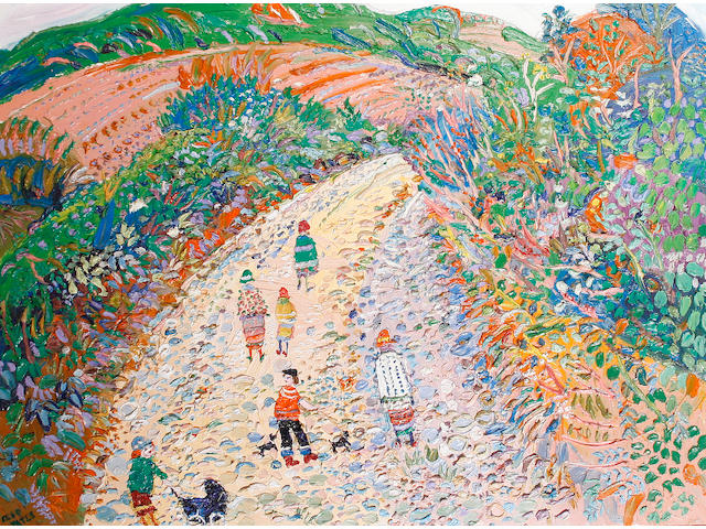 Fred Yates (British, 1922-2008) Pathway to the sea