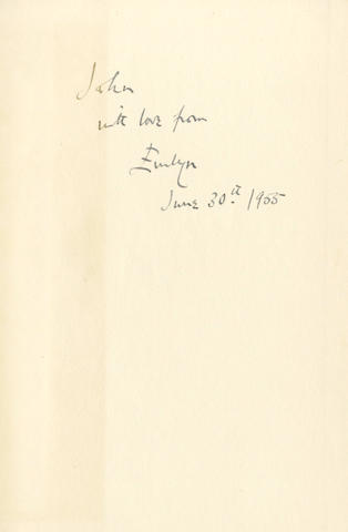 WAUGH (EVELYN) Officers and Gentlemen, FIRST EDITION, AUTHOR'S PRESENTATION COPY