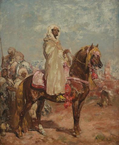 Henri-Emilien Rousseau (French, 1875-1933), An Arab horseman