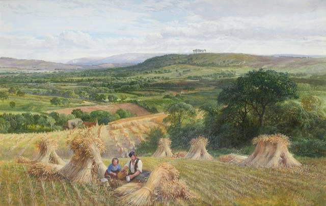 George Vicat Cole, RA (British, 1833-1893) The harvester's rest