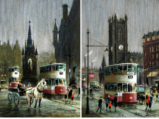 Arthur Delaney (British, 1927-1987) 'Albert Square' and 'Deansgate', a pair