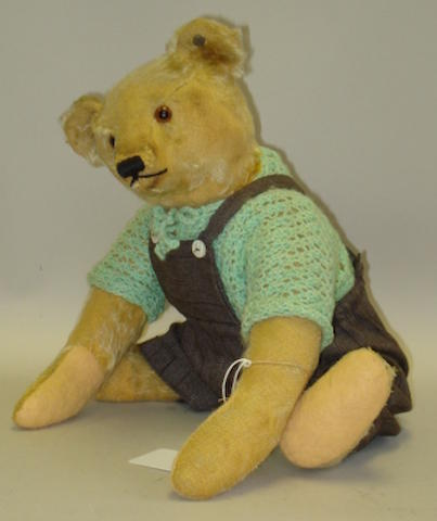 Brown mohair Steiff Teddy bear, circa 1920
