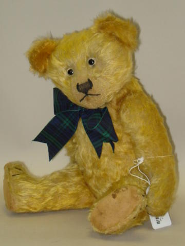Golden mohair early English Teddy bear, circa 1920