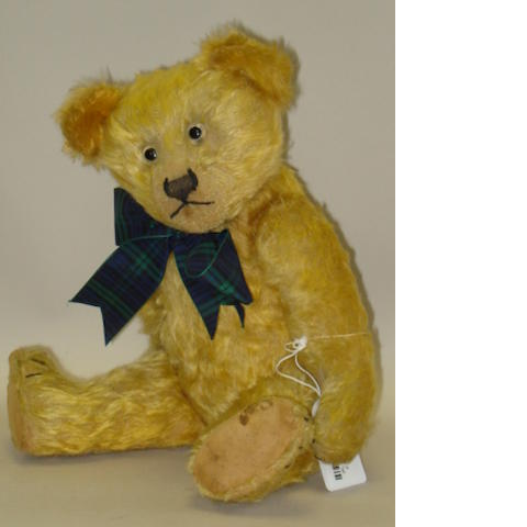 Golden mohair early English Teddy bear
