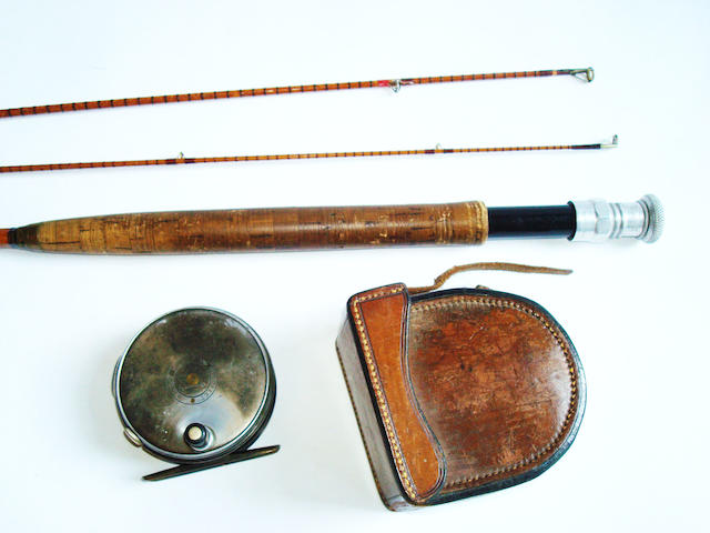 A Hardy 'Perfect' Dup Mk II alloy trout fly reel, circa 1930 3 in.