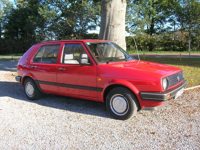 One owner from new,1989 Volkswagen Golf MkII Hatchback  Chassis no. WVWZZZ1GZKW383537 Engine no. EZ706071
