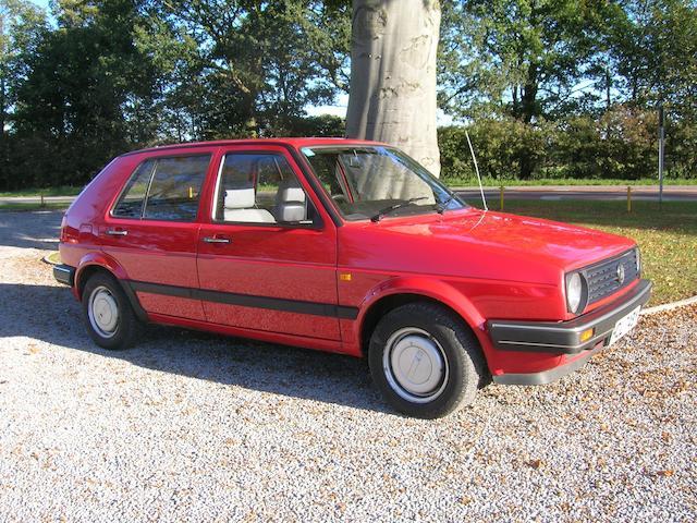 One owner from new,1989 Volkswagen Golf MkII Hatchback  Chassis no. WVWZZZ1GZKW383537 Engine no. EZ706071
