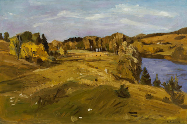 William Goodridge Roberts, RCA,CGP,CSGA,OSA,OC (Canadian 1904-1974) The Valley of the Gouffre River, Baie St.Paul