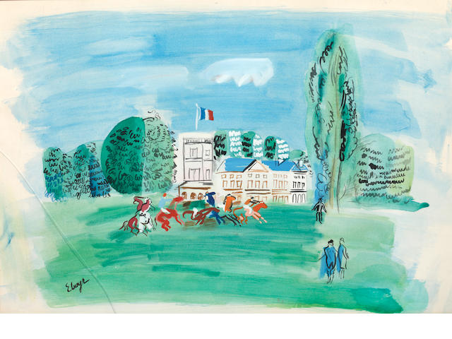 Elmyr de Hory (Hungarian, 1906-1976), after Raoul Dufy Racetrack