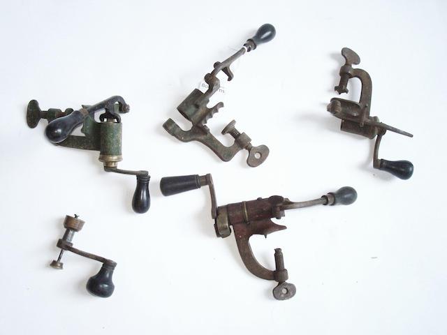 Four various cartridge loaders