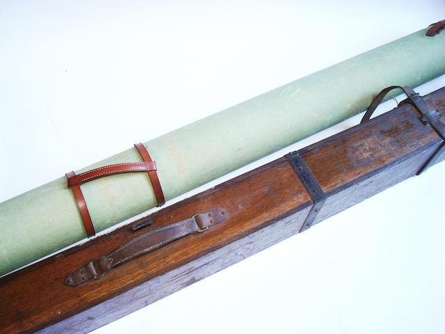 A Hardy Brothers oak rod case