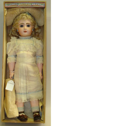 Bebe Jumeau bisque head doll in original box