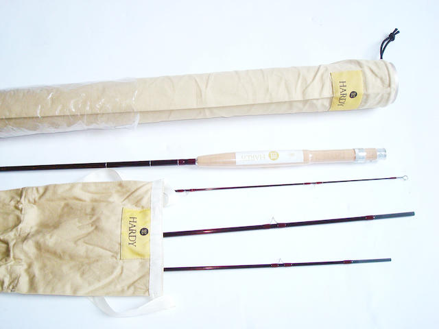 A Hardy LRH lightweight 9ft #5 four piece trout fly rod